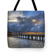 The Pier Tote Bag by Debra and Dave Vanderlaan
