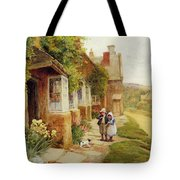 The Puppy Tote Bag by Arthur Claude Strachan