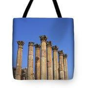 The Temple Of Artemis At Jerash Jordan Tote Bag by Robert Preston
