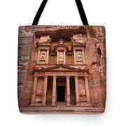 The Treasury In Petra Jordan Tote Bag by Robert Preston