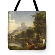 The Voyage Of Life Youth Tote Bag by Thomas Cole
