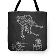 Toy Space Vehicle Patent Tote Bag by Aged Pixel