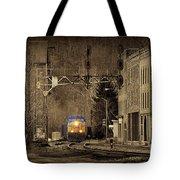 Train At Thurmond Wv Tote Bag by Dan Friend