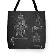 Vintage Toy Robot Patent Drawing From 1955 Tote Bag by Aged Pixel
