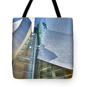 Walt Disney Concert Hall Vertical Los Angeles Ca Tote Bag by David Zanzinger