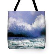 Wild Waves in Cornwall Tote Bag by Terri  Waters