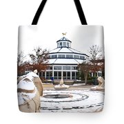 Winter In Coolidge Park Tote Bag by Tom and Pat Cory