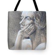 Woman Head Study Tote Bag by Irina Sztukowski