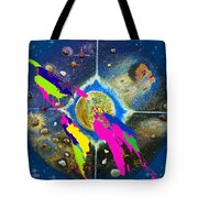 World Map and Barack Obama Stars Tote Bag by Augusta Stylianou