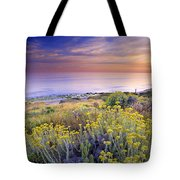 Yellow Flowers At The Sea Tote Bag by Guido Montanes Castillo