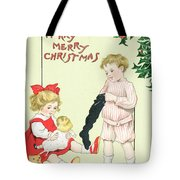 Christmas card Tote Bag by English School