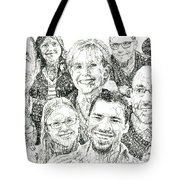100 Words Why I Am A Christian Tote Bag by Michael  Volpicelli