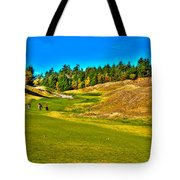 #12 At Chambers Bay Golf Course - Location Of The 2015 U.s. Open Championship Tote Bag by David Patterson