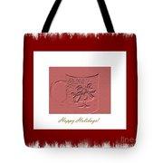 Happy Holidays Tote Bag by Oksana Semenchenko
