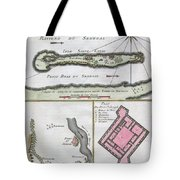1750 Bellin Map Of The Senegal Tote Bag by Paul Fearn