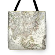 1770 Janvier Map Of Asia Tote Bag by Paul Fearn