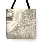1775 Janvier Map of Holland and Belgium Tote Bag by Paul Fearn