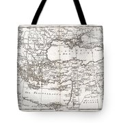 1780 Raynal And Bonne Map Of Turkey In Europe And Asia Tote Bag by Paul Fearn