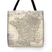 1799 Clement Cruttwell Map Of France In Departments Tote Bag by Paul Fearn