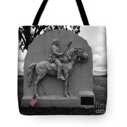 17th Pennsylvania Cavalry Monument Gettysburg Tote Bag by James Brunker