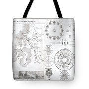 1838 Monin Map Or Physical Tableau And Astronomy Chart  Tote Bag by Paul Fearn