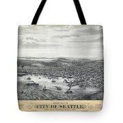 1878 Seattle Washington Map Tote Bag by Daniel Hagerman