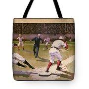 1898 Baseball -  American Pastime  Tote Bag by Daniel Hagerman