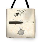 1902 Baseball Bat Patent Tote Bag by Digital Reproductions