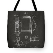 1914 Beer Stein Patent Artwork - Gray Tote Bag by Nikki Marie Smith