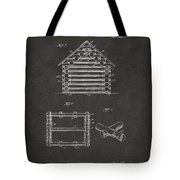 1920 Lincoln Log Cabin Patent Artwork - Gray Tote Bag by Nikki Marie Smith