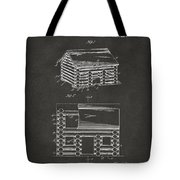 1920 Lincoln Logs Patent Artwork - Gray Tote Bag by Nikki Marie Smith