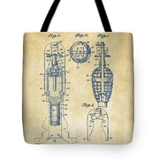 1921 Explosive Missle Patent Vintage Tote Bag by Nikki Marie Smith