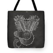 1923 Harley Engine Patent Art - Gray Tote Bag by Nikki Marie Smith