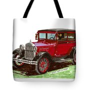 1928 Ford Model A Two Door Tote Bag by Jack Pumphrey
