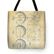 1929 Basketball Patent Artwork - Vintage Tote Bag by Nikki Marie Smith