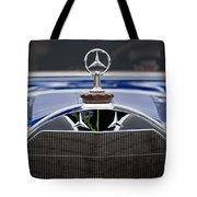 1929 Mercedes Benz S Erdmann And Rossi Cabiolet Hood Ornament Tote Bag by Jill Reger