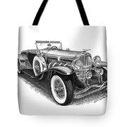 1930 Duesenberg Model J Tote Bag by Jack Pumphrey