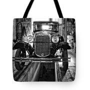 1930 Model T Ford Monochrome Tote Bag by Steve Harrington