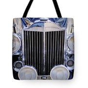 1933 Packard 12 Convertible Coupe Grille Tote Bag by Jill Reger