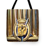1933 Stutz Dv-32 Five Passenger Sedan Emblem Tote Bag by Jill Reger