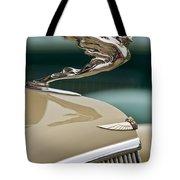 1935 Cadillac Convertible Hood Ornament Tote Bag by Jill Reger