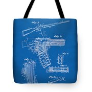 1937 Police Remington Model 8 Magazine Patent Artwork - Blueprin Tote Bag by Nikki Marie Smith