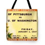 1937 Rose Bowl Ticket Tote Bag by David Patterson