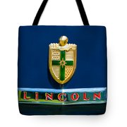 1942 Lincoln Continental Cabriolet Emblem Tote Bag by Jill Reger