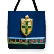 1942 Lincoln Continental Cabriolet Emblem Tote Bag by Jill Reger