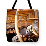 1942 Packard Darrin Convertible Victoria Steering Wheel Tote Bag by Jill Reger