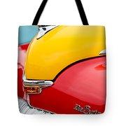 1946 Desoto Skyview Taxi Cab Hood Ornament Tote Bag by Jill Reger
