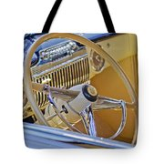 1947 Cadillac 62 Steering Wheel Tote Bag by Jill Reger