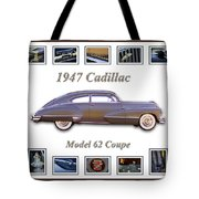 1947 Cadillac Model 62 Coupe Art Tote Bag by Jill Reger