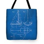 1948 Sailboat Patent Artwork - Blueprint Tote Bag by Nikki Marie Smith